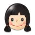 👧🏻 girl: light skin tone Emoji on Samsung Platform