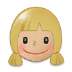 👧🏼 girl: medium-light skin tone Emoji on Samsung Platform