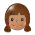 👧🏽 girl: medium skin tone Emoji on Samsung Platform
