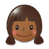 👧🏾 girl: medium-dark skin tone Emoji on Samsung Platform