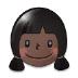 👧🏿 girl: dark skin tone Emoji on Samsung Platform