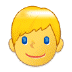👱 person: blond hair Emoji on Samsung Platform