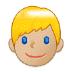👱🏼 person: medium-light skin tone, blond hair Emoji on Samsung Platform