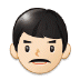 👨🏻 man: light skin tone Emoji on Samsung Platform