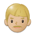 👨🏼 man: medium-light skin tone Emoji on Samsung Platform