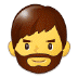 🧔 man: beard Emoji on Samsung Platform