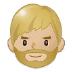 🧔🏼 man: medium-light skin tone, beard Emoji on Samsung Platform