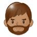 🧔🏽 man: medium skin tone, beard Emoji on Samsung Platform