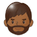 🧔🏾 man: medium-dark skin tone, beard Emoji on Samsung Platform