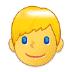 👱♂️ man: blond hair Emoji on Samsung Platform