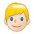👱🏻♂️ man: light skin tone, blond hair Emoji on Samsung Platform