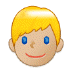 👱🏼‍♂️ man: medium-light skin tone, blond hair Emoji on Samsung Platform