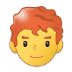 👨‍🦰 man: red hair Emoji on Samsung Platform