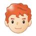 👨🏻🦰 man: light skin tone, red hair Emoji on Samsung Platform