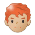 👨🏼‍🦰 man: medium-light skin tone, red hair Emoji on Samsung Platform
