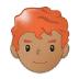 👨🏽🦰 man: medium skin tone, red hair Emoji on Samsung Platform