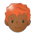 👨🏾🦰 man: medium-dark skin tone, red hair Emoji on Samsung Platform