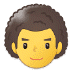 👨‍🦱 man: curly hair Emoji on Samsung Platform
