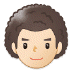 👨🏻‍🦱 man: light skin tone, curly hair Emoji on Samsung Platform