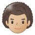 👨🏼‍🦱 man: medium-light skin tone, curly hair Emoji on Samsung Platform