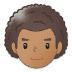 👨🏽🦱 man: medium skin tone, curly hair Emoji on Samsung Platform
