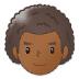 👨🏾🦱 Medium Dark Skin Tone Curly Hair Man Emoji on Samsung Platform
