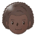 👨🏿‍🦱 man: dark skin tone, curly hair Emoji on Samsung Platform