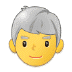 👨‍🦳 man: white hair Emoji on Samsung Platform