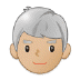 👨🏼‍🦳 man: medium-light skin tone, white hair Emoji on Samsung Platform