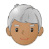 👨🏽‍🦳 man: medium skin tone, white hair Emoji on Samsung Platform