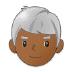 👨🏾🦳 man: medium-dark skin tone, white hair Emoji on Samsung Platform
