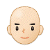 👨🏻‍🦲 man: light skin tone, bald Emoji on Samsung Platform