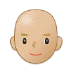 👨🏼‍🦲 man: medium-light skin tone, bald Emoji on Samsung Platform