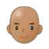 👨🏽‍🦲 Medium Skin Tone Bald Man Emoji on Samsung Platform