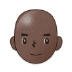 👨🏿‍🦲 man: dark skin tone, bald Emoji on Samsung Platform