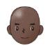 👨🏿🦲 man: dark skin tone, bald Emoji on Samsung Platform