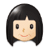 👩🏻 woman: light skin tone Emoji on Samsung Platform