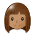 👩🏽 Medium Skin Tone Woman Emoji on Samsung Platform
