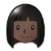 👩🏿 woman: dark skin tone Emoji on Samsung Platform