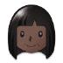 👩🏿 Dark Skin Tone Woman Emoji on Samsung Platform