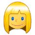 👱♀️ woman: blond hair Emoji on Samsung Platform
