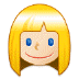 👱🏻‍♀️ woman: light skin tone, blond hair Emoji on Samsung Platform