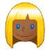 👱🏾♀️ woman: medium-dark skin tone, blond hair Emoji on Samsung Platform
