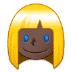 👱🏿♀️ woman: dark skin tone, blond hair Emoji on Samsung Platform