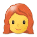 👩‍🦰 woman: red hair Emoji on Samsung Platform