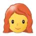 👩🦰 woman: red hair Emoji on Samsung Platform