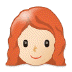 👩🏻‍🦰 Light Skin Tone Red Hair Woman Emoji on Samsung Platform