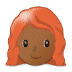 👩🏾‍🦰 woman: medium-dark skin tone, red hair Emoji on Samsung Platform