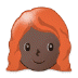 👩🏿‍🦰 woman: dark skin tone, red hair Emoji on Samsung Platform