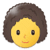 👩‍🦱 woman: curly hair Emoji on Samsung Platform
